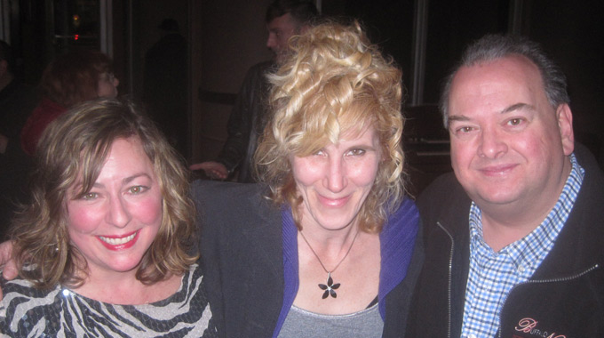 Cast member Stephanie Bax, playwright Jennifer Tromble, and cast member Michael Starzynski