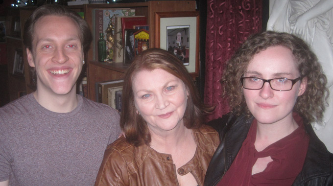 Jamie O'Neill who plays Curley, with his well known actress mother Josephine Hogan, and sister Laura O'Neill.