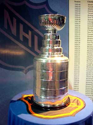 A chance to win the Stanley Cup [above] will elude all of the Canadian teams in the NHL this year. This is rare. A chance to win the Stanley Cup will also elude the Buffalo Sabres. This is not at all rare.