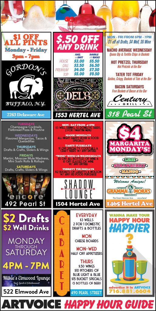 Happy Hour Guide - March 31 - April 6