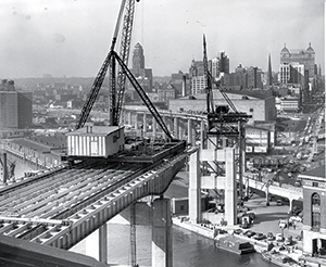The Skyway, under construction, in 1955.