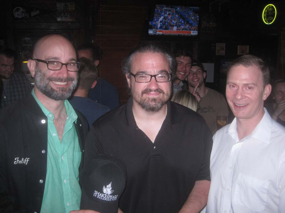 Actor Chris Young with Matt Witten who plays Leontes, and Patrick Moltane who plays Polixenes