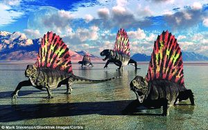 Sail-backed Dimetrodons, which were alive during Earth's Permian period of time